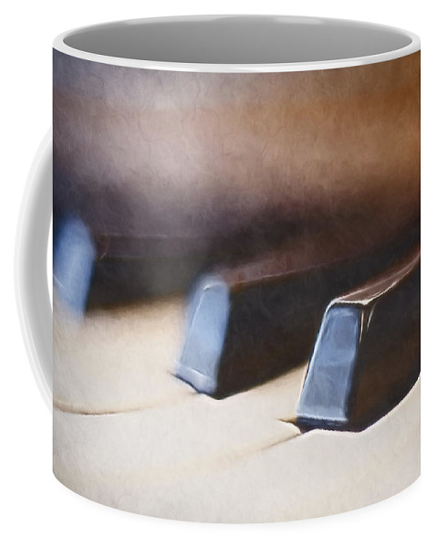 Piano Coffee Mug featuring the photograph The Black Keys by Scott Norris