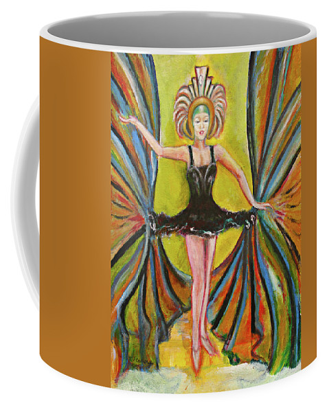 Ballet Coffee Mug featuring the painting The Black Tutu by Tom Conway
