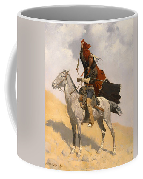 Plains Coffee Mug featuring the painting The Blanket Signal by Mountain Dreams