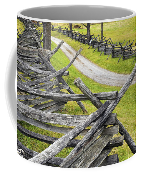 Antietam Coffee Mug featuring the photograph The Bloody Lane At Antietam by Paul W Faust - Impressions of Light