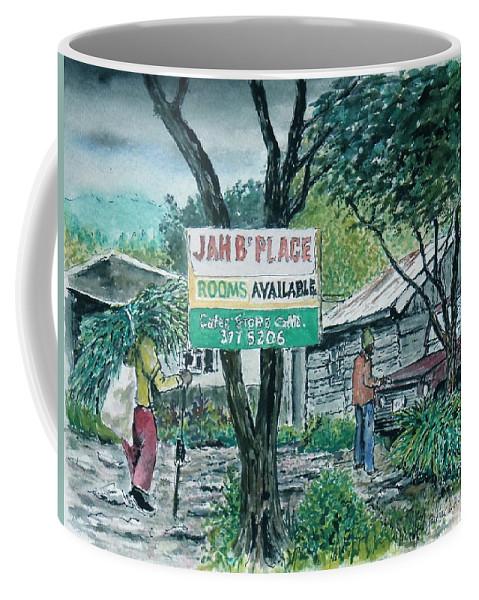Jamaica Blue Mountains Coffee Mug featuring the painting The Blue Mountains Of Jamaica by Frank Hunter