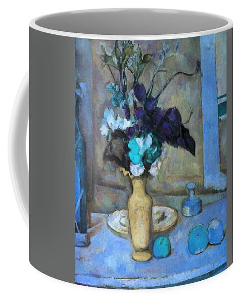 Art Error Coffee Mug featuring the digital art The Blue Vase by Paul Cezanne