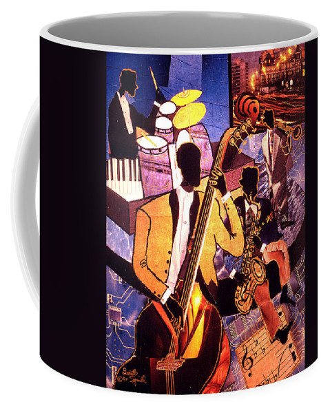 Everett Spruill Coffee Mug featuring the painting The Blues People by Everett Spruill