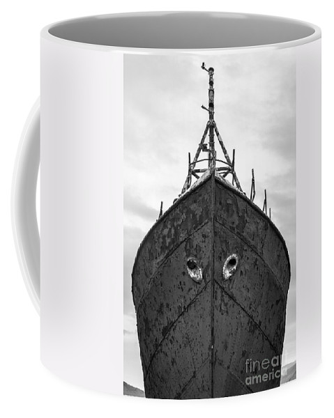 Black And White Coffee Mug featuring the photograph The Boat by Gunnar Orn Arnason