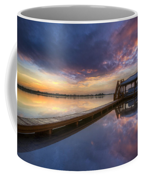 Boats Coffee Mug featuring the photograph The Boathouse by Debra and Dave Vanderlaan