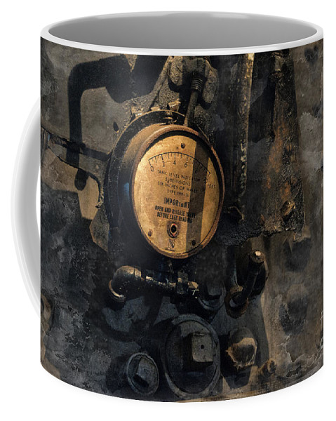 Train Coffee Mug featuring the photograph The Boiler Gauge by David Arment