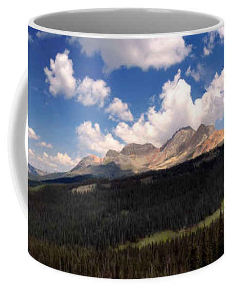 Bolam Pass Coffee Mug featuring the photograph Mountain Pass - Colorado by David Perry Lawrence