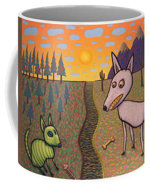Border Coffee Mug featuring the painting The Border by James W Johnson