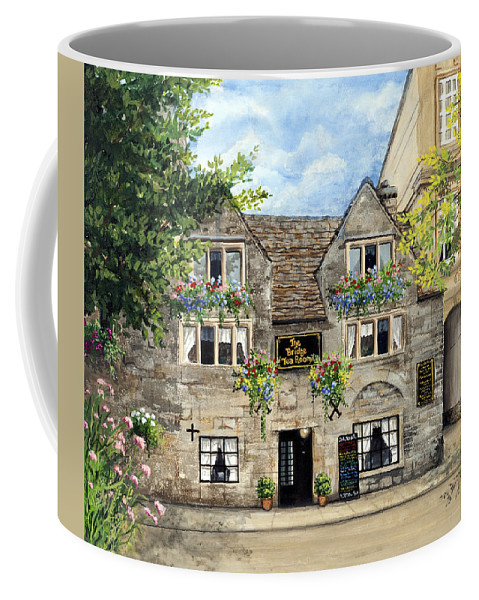 The Bridge Tea Rooms Coffee Mug featuring the painting The Bridge Tea Rooms by Mary Palmer