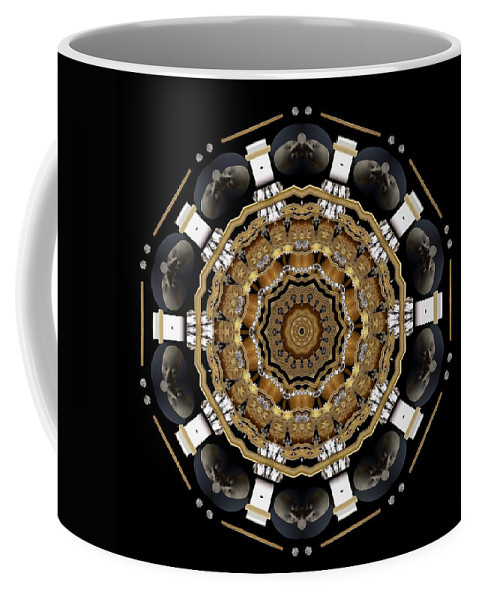 Universe Coffee Mug featuring the mixed media The Brightest Star Of Love Pop Art by Pepita Selles