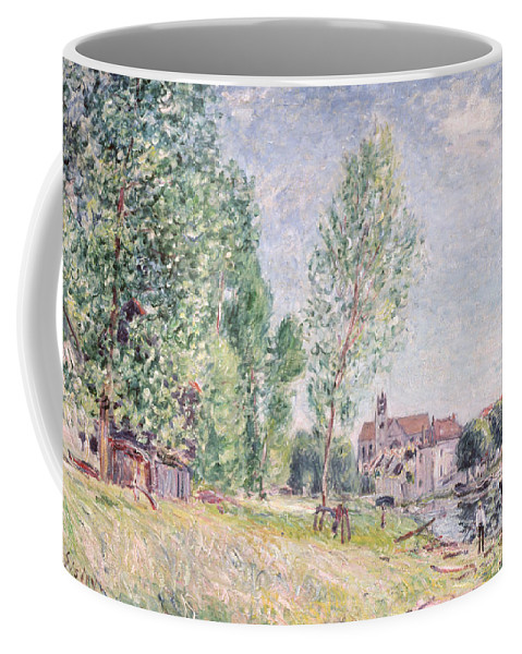 Impressionist; Landscape Coffee Mug featuring the painting The Builder's Yard At Matrat Moret-sur-loing by Alfred Sisley