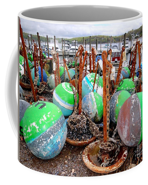Buoys Coffee Mug featuring the photograph The Buoys Of Summer by Ed Weidman