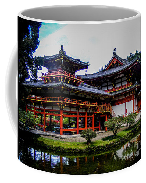 Buddhist Coffee Mug featuring the photograph The Byodo-in Temple by Charlene Gauld
