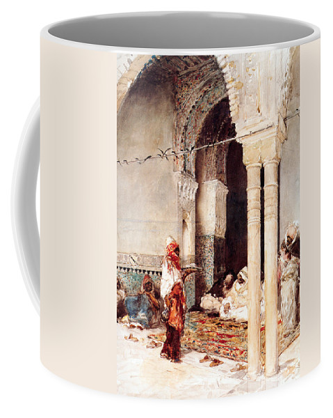 Orientalism Coffee Mug featuring the photograph The Cafi Of The Swallows by Munir Alawi