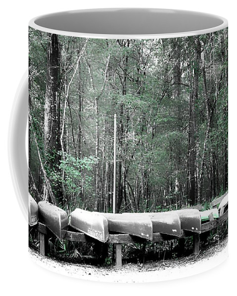 Canoes Coffee Mug featuring the photograph The Canoes by Debra Forand