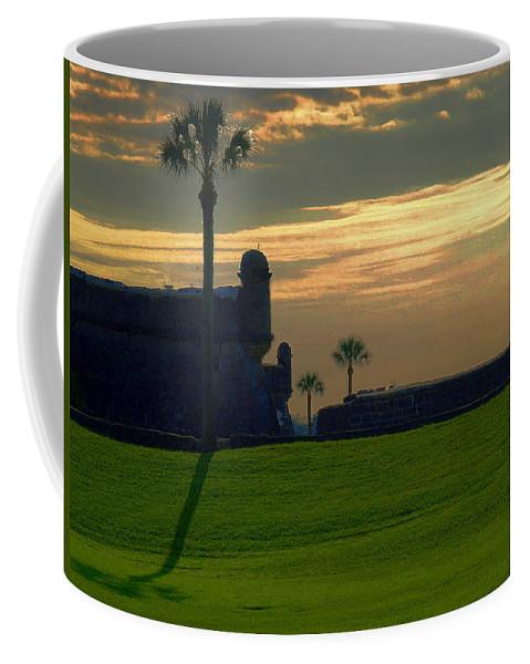 St Augustine Coffee Mug featuring the photograph The Castillo De San Marcos by Bob Johnson