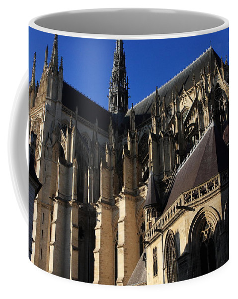 Amiens Cathedral Coffee Mug featuring the photograph The Cathedral Basilica - Amiens - France by Aidan Moran