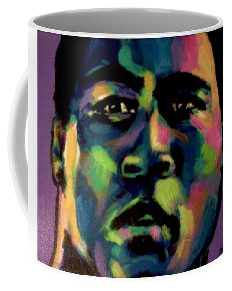 Ali Coffee Mug featuring the painting The Champ by Stuart Glazer