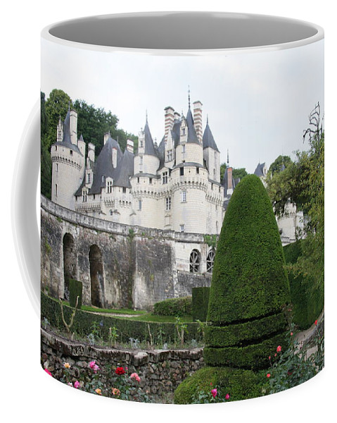 Palace Coffee Mug featuring the photograph The Chateau's Towers View by Christiane Schulze Art And Photography
