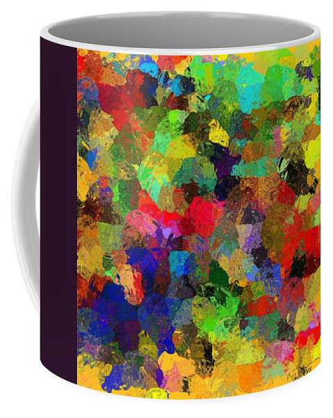Coffee Mug featuring the mixed media The Chatterers by Terence Morrissey