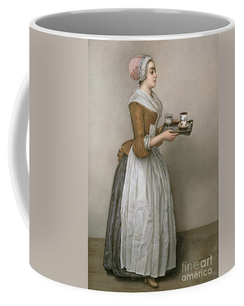 Servant Coffee Mug featuring the painting The Chocolate Girl by Jean-Etienne Liotard