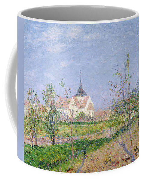 Impressionist Coffee Mug featuring the painting The Church At Vaudreuil by Gustave Loiseau