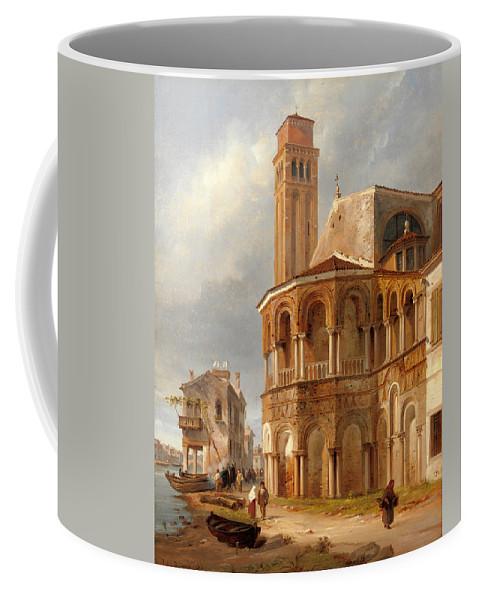 Luigi Querena Coffee Mug featuring the painting The Church Of Santa Maria E San Donato In Murano by Luigi Querena