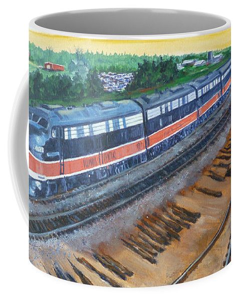 Train Coffee Mug featuring the painting The City Of New Orleans by Bryan Bustard