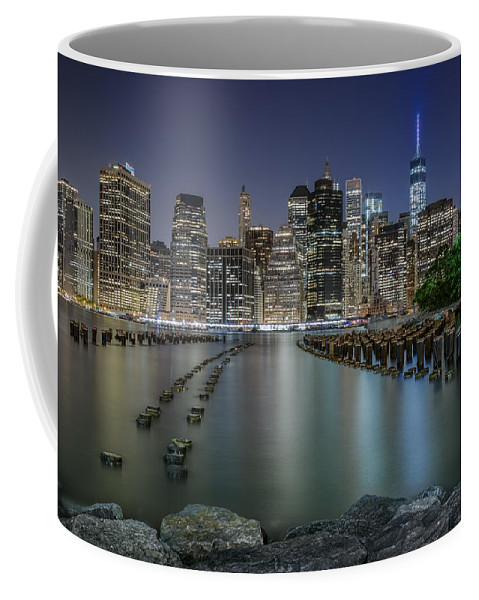 America Coffee Mug featuring the photograph The City That Never Sleeps by Eduard Moldoveanu