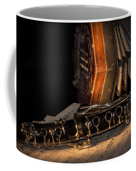 Clarinet Coffee Mug featuring the photograph The Clarinet And The Concertina by Ann Garrett
