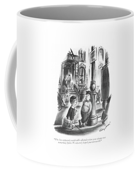 112627 Wda Whitney Darrow Coffee Mug featuring the drawing The Class Expressed Considerable Solicitude When by Whitney Darrow, Jr.