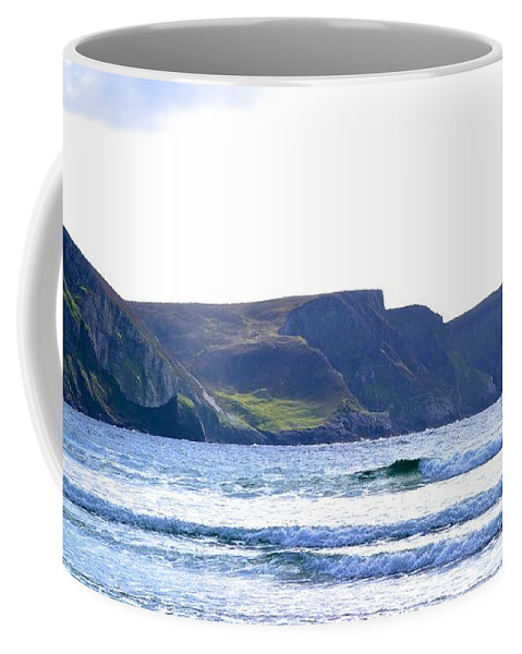 Sony Coffee Mug featuring the photograph The Cliffs Of Western Eire by Charlie and Norma Brock