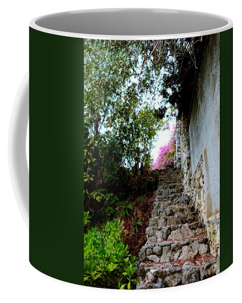 Rustic Stone Step From Sea Coffee Mug featuring the photograph The Climb by Amar Sheow