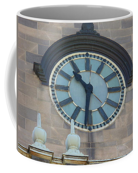 Clock Coffee Mug featuring the painting The Clock by Lord Frederick Lyle Morris