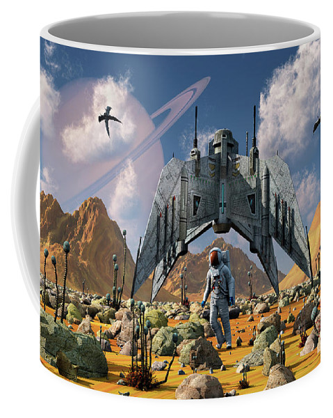 Horizontal Coffee Mug featuring the photograph The Colonization Of An Alien World by Mark Stevenson