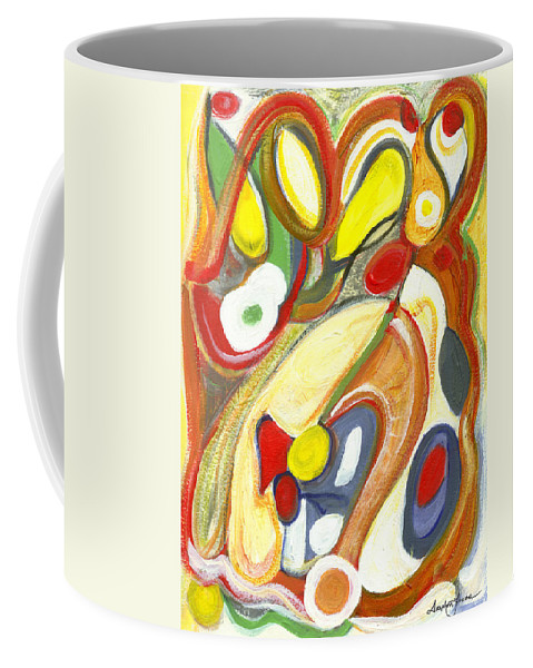 Abstract Art Coffee Mug featuring the painting The Color Of Love by Stephen Lucas