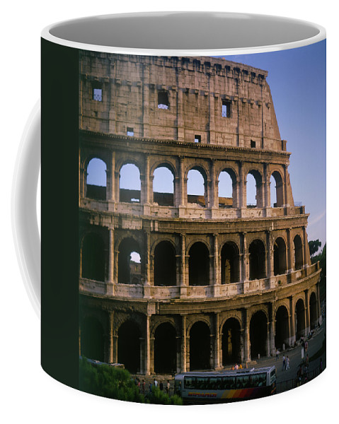 Italy Coffee Mug featuring the photograph The Colosseum by Luigi Petro