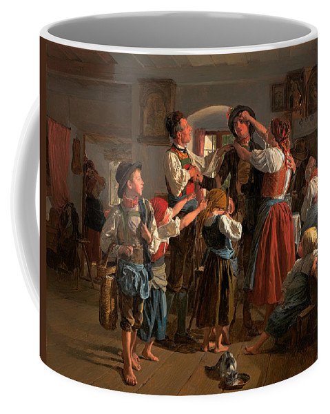Painting Coffee Mug featuring the painting The Conscript's Farewell by Mountain Dreams