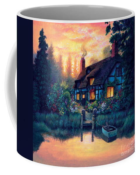 Cottage Coffee Mug featuring the photograph The Cottage by MGL Studio - Chris Hiett