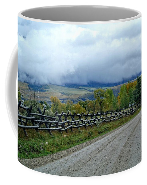 Palisades Coffee Mug featuring the photograph The Country Road by Image Takers Photography LLC - Carol Haddon