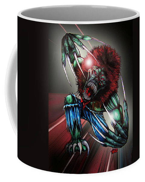 The Creeper Coffee Mug featuring the digital art The Creeper by Michael TMAD Finney and Ben Van Rooyen