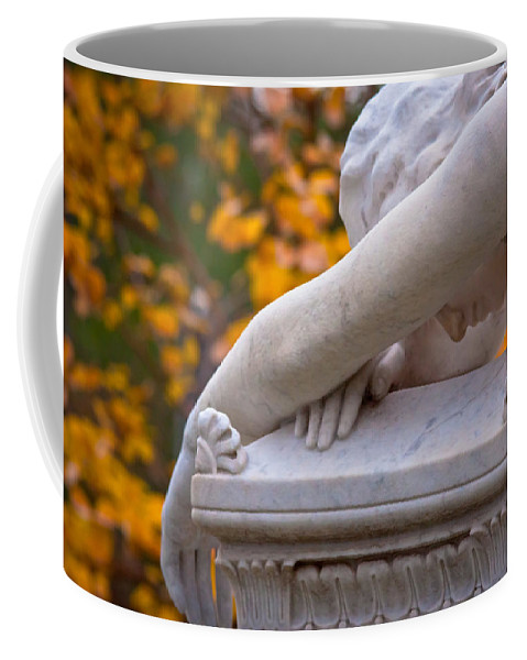 Angel Coffee Mug featuring the digital art The Crying Angel by Linda Unger