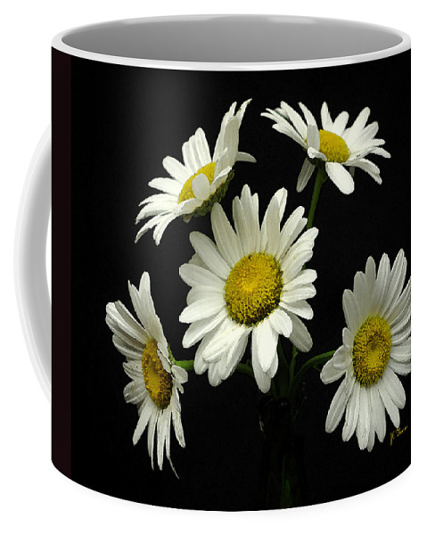 Daisy Coffee Mug featuring the photograph The Daisy Five by James C Thomas