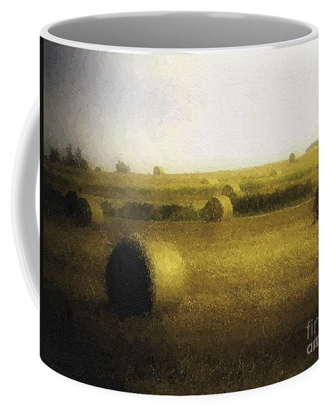Field Coffee Mug featuring the painting The Dawning by RC DeWinter