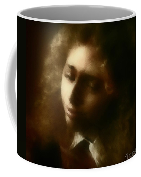 Girl Coffee Mug featuring the painting The Daydream by RC deWinter
