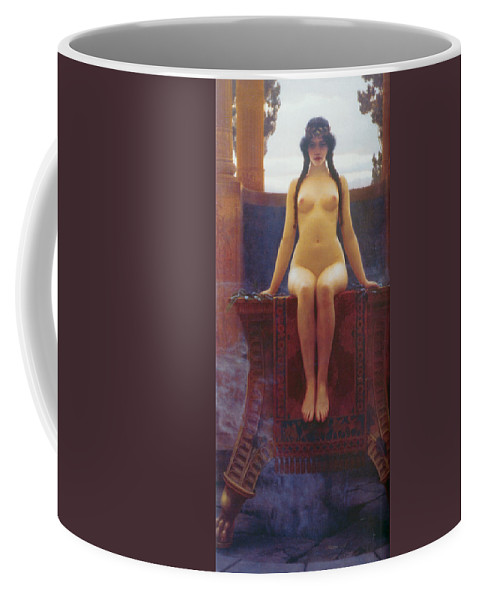 John William Godward Coffee Mug featuring the digital art The Delphic Oracle by John William Godward