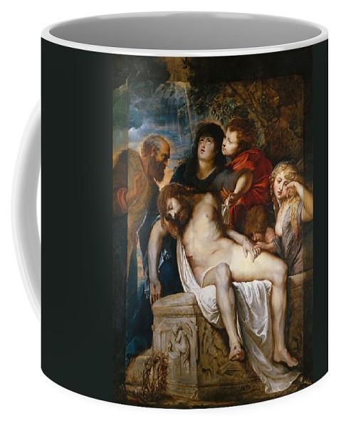 Peter Paul Rubens Coffee Mug featuring the painting The Deposition by Peter Paul Rubens