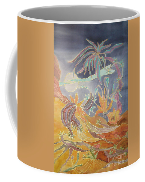 Landscape Coffee Mug featuring the painting The Dessert by Veronica V Jackson