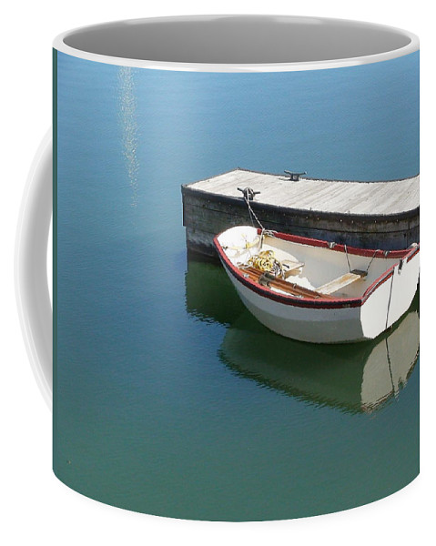 Dingy Coffee Mug featuring the photograph The Dingy by Thomas Young