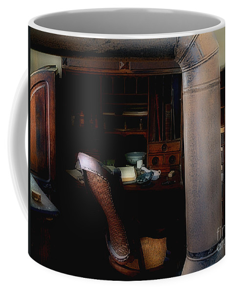Antiques Coffee Mug featuring the painting The Doctor Is Out by RC DeWinter
